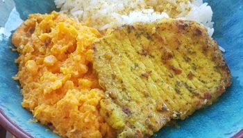 filet de porc au curry purée de carottes les plaisirs sains