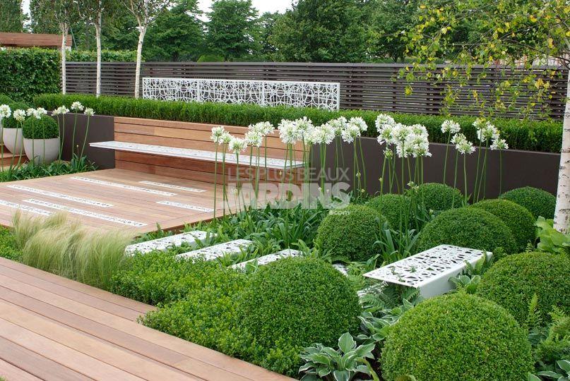 Un jardin contemporain tout en sobrit  LES PLUS BEAUX JARDINS