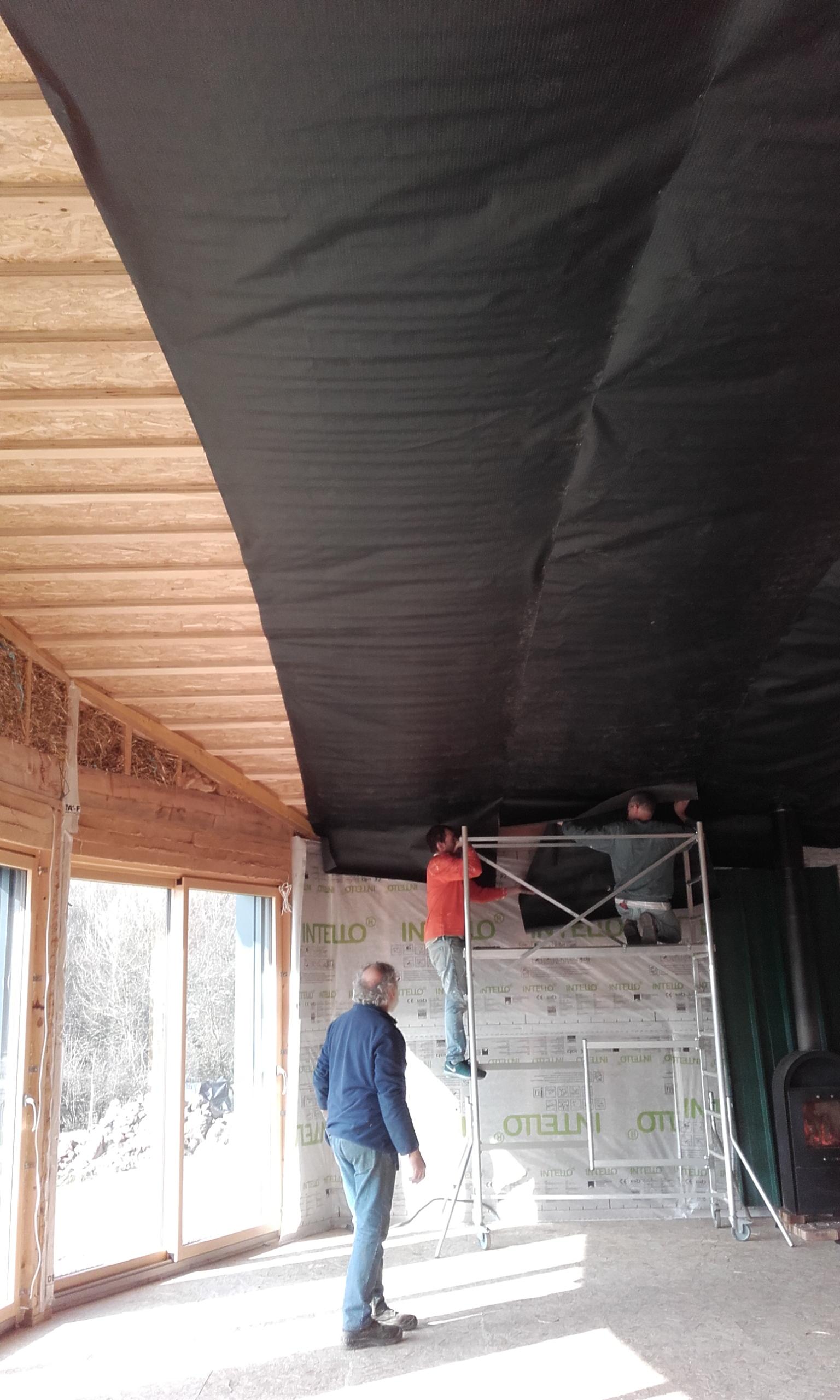 plafond salle sejour les poiriers du chat