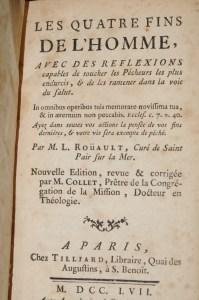 ROUAULT, Les Quatre Fins de l'Homme, Paris, Tilliard, 1757