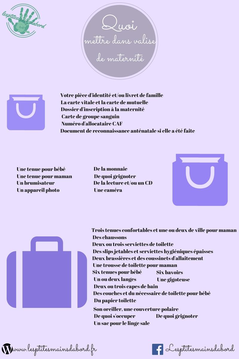 liste valise maternité