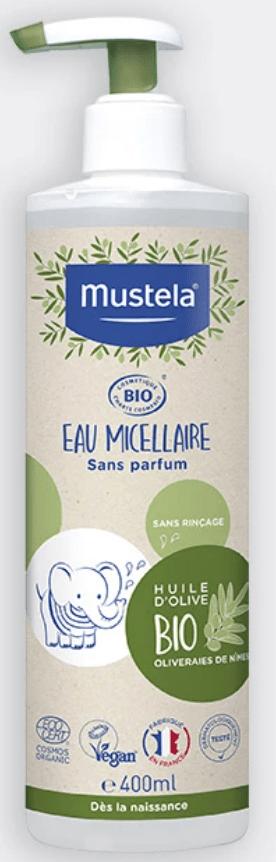 eau micellaire sans rinçage bio bébé Mustela quelle eau nettoyante choisir lesptitesmainsdabord