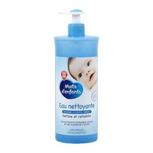 eau nettoyante bébé mots d'enfants leclerc