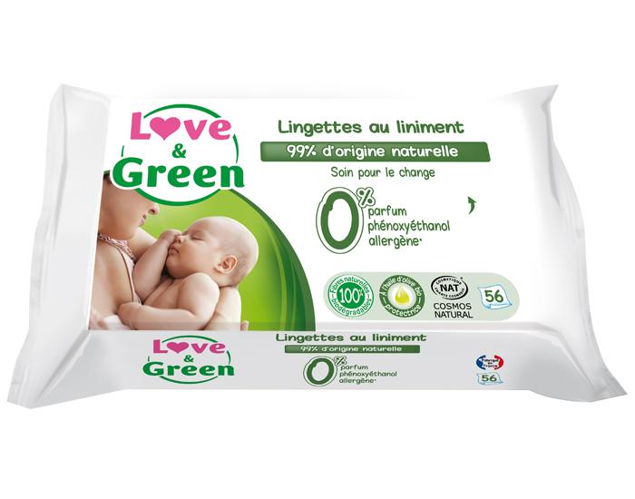 lingettes au liniment bébé love&green