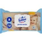 lingettes peau nette lotus baby