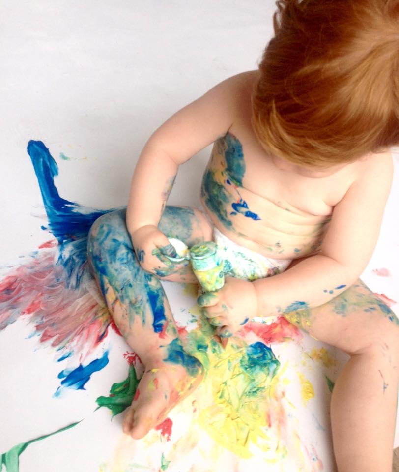 Un Atelier De Peinture Pour Bébés Conseillé Par Les P Tits Sages