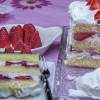gateau au fromage blanc et aux fraises