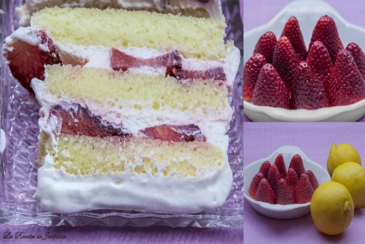 gâteau au fromage blanc et aux fraises