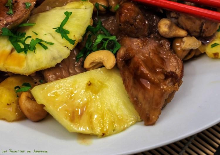 Filet mignon à l'ananas 2
