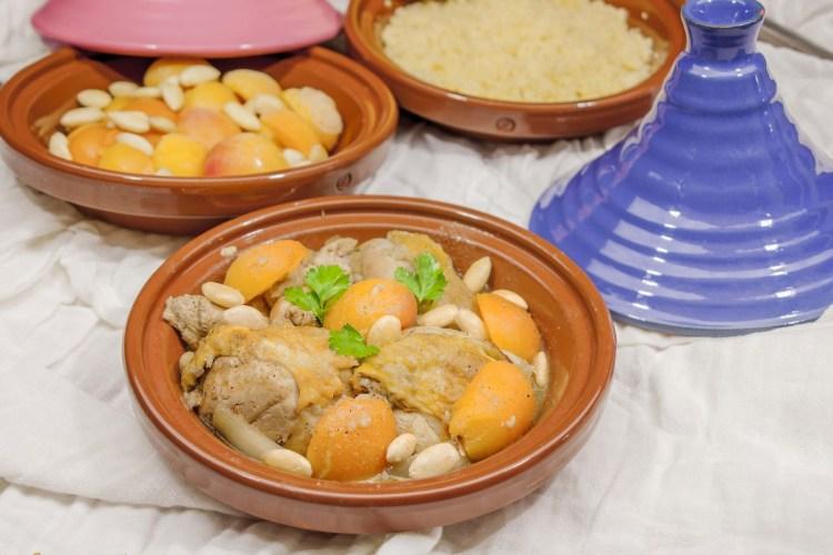 Tajine de poulet aux abricots