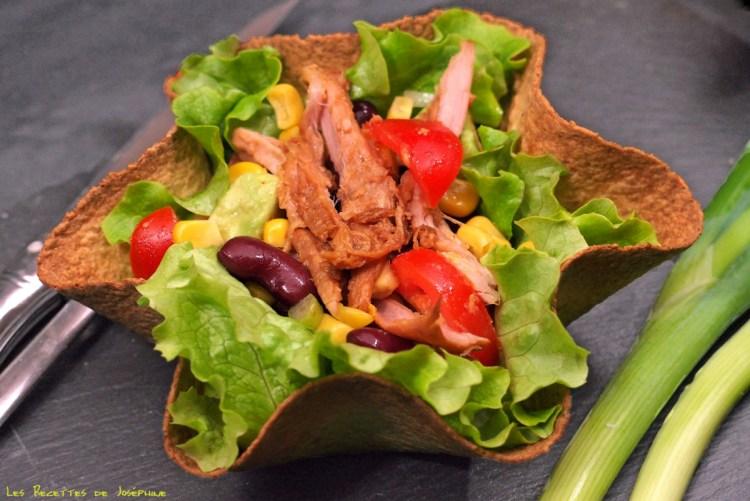 Salade mexicaine et pico de gallo