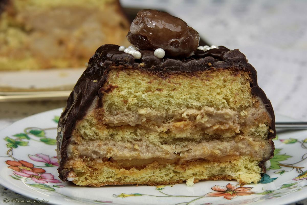 B che aux marrons les recettes de jos phine - Herve cuisine buche marron ...