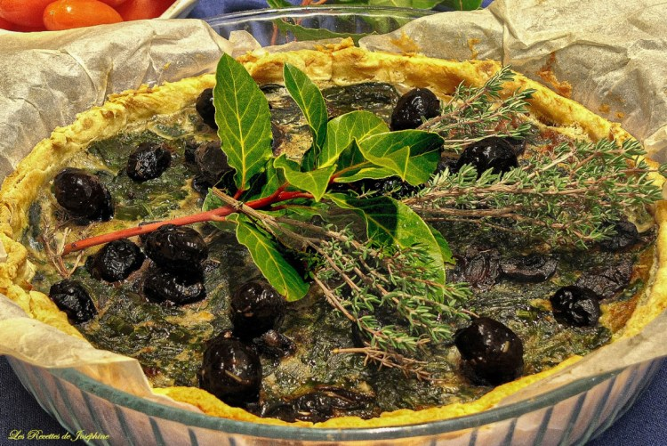 Tarte aux olives et épinards 2 w