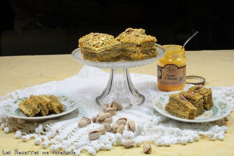 Cake pistache et crème d'abricot