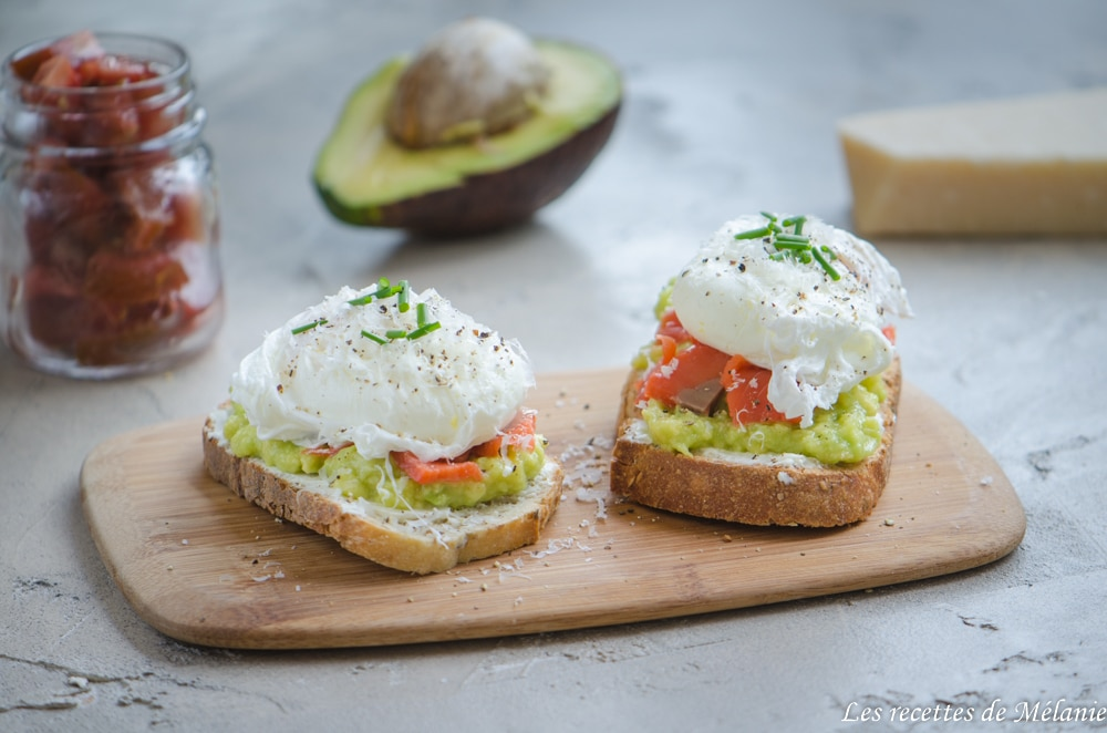 Bruschette saumon-avocat