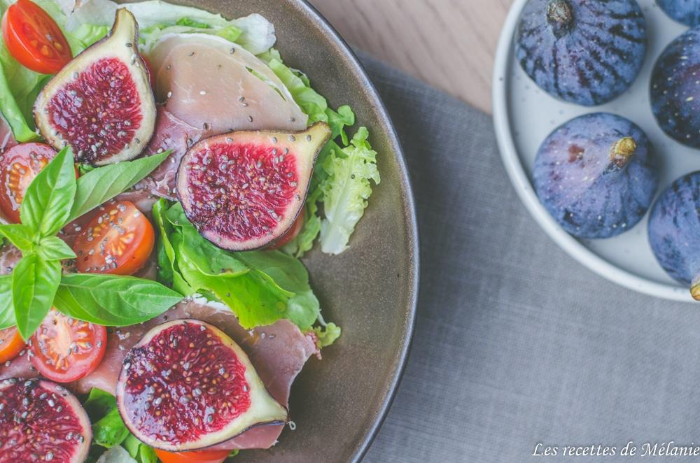 Salade de figues et jambon cru