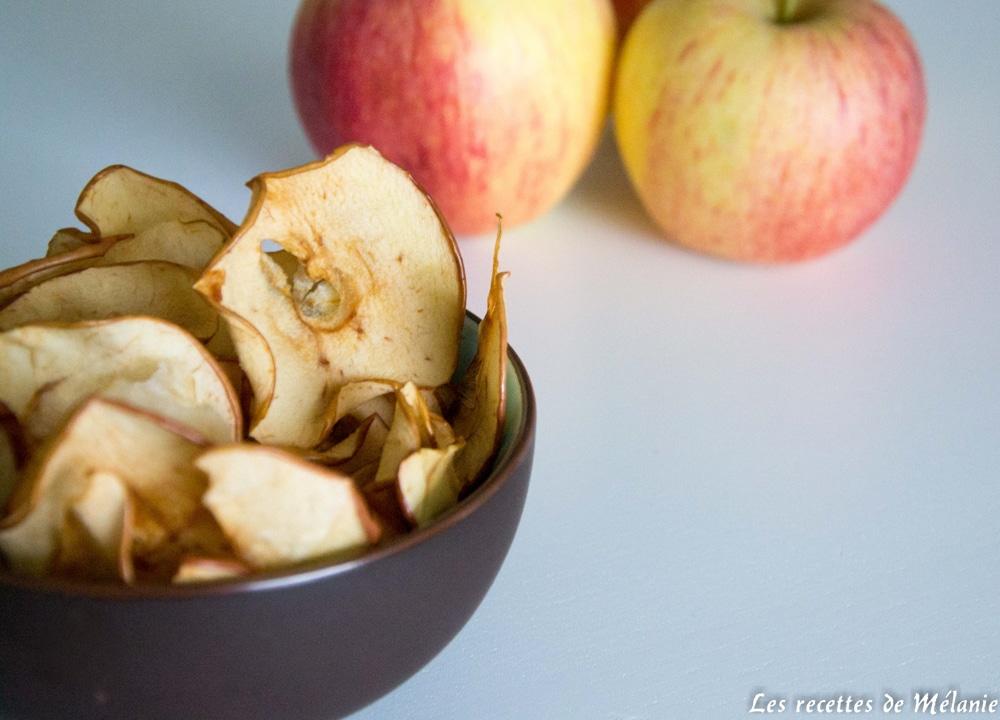 Chips de pomme pour un encas sain