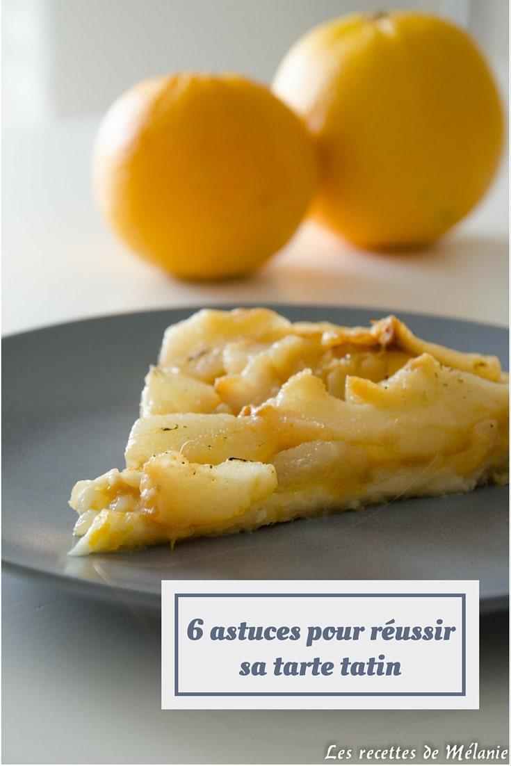 6 astuces pour réussir sa tarte tatin + recette d'une tarte tatin poires/gingembre