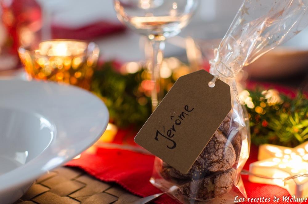 Une décoration de table pour Noël