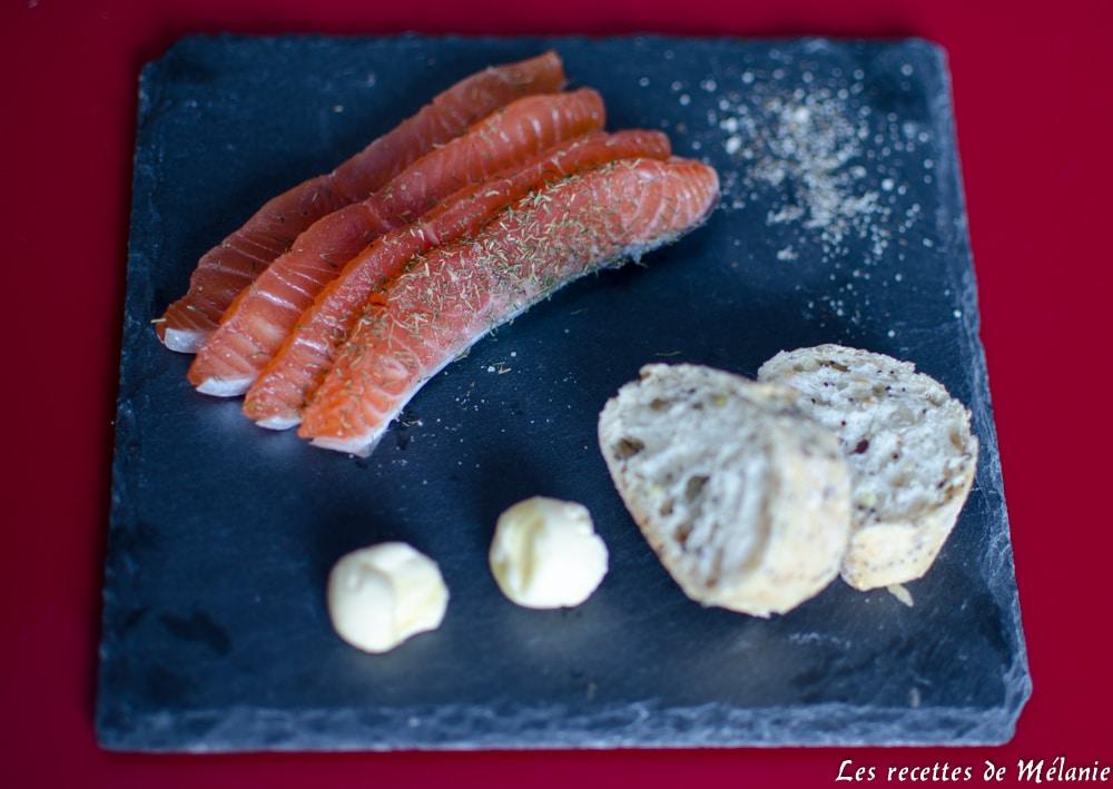 Gravlax de saumon - Entrée de Noël