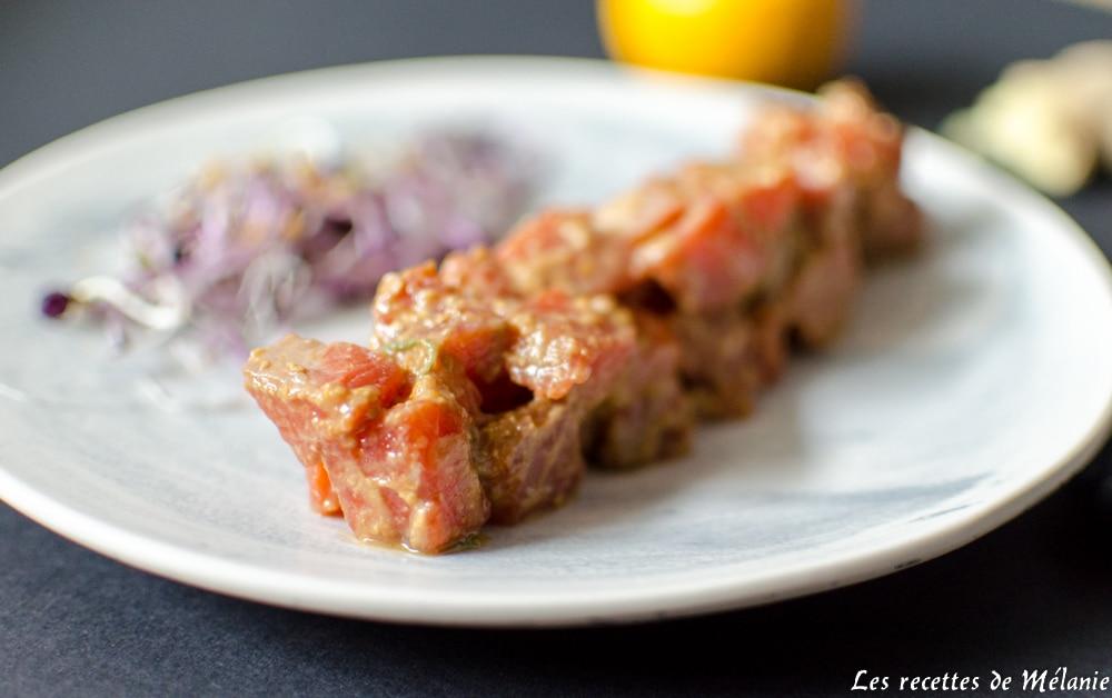 Tartare de saumon au yuzu : une entrée de Saint-Valentin