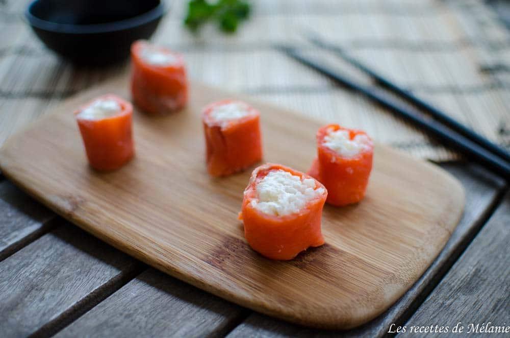 Makis de saumon au thé vert - Foodista challenge #29