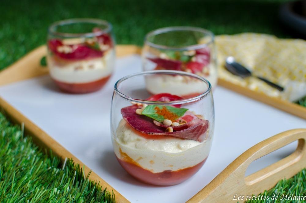 Tiramisu tomates, parmesan et coppa