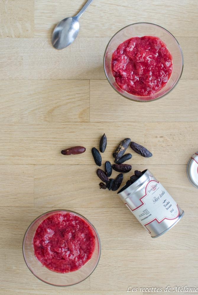 Panna cotta fraises tonka