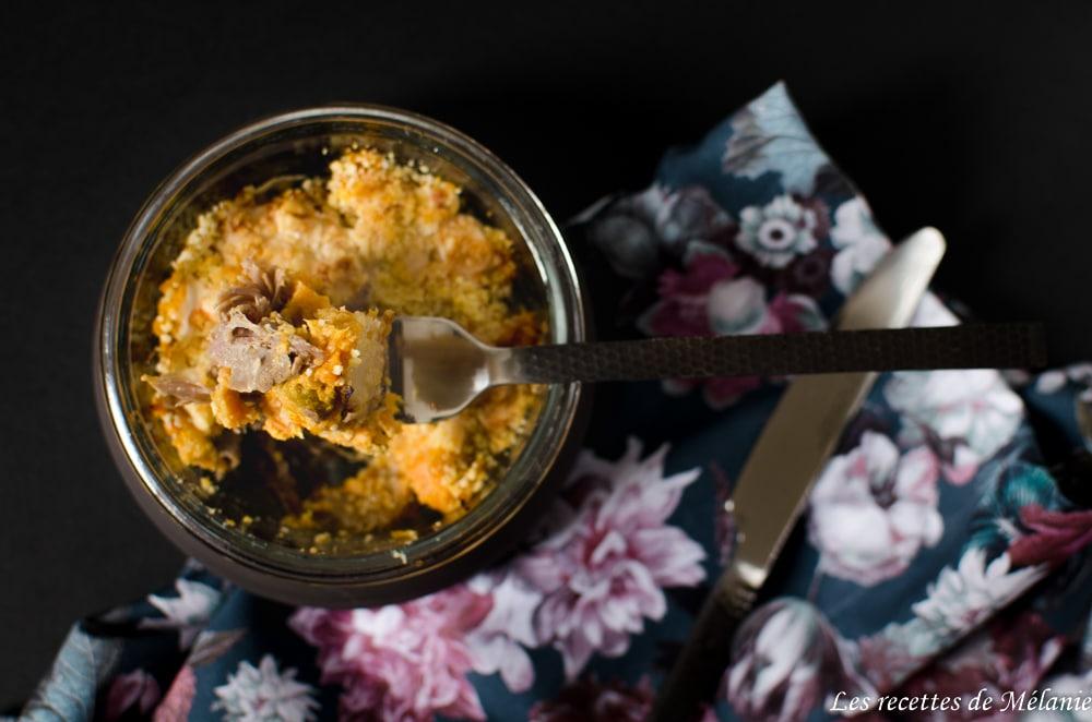 Hachis parmentier patate douce et canard