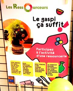 Affiche des Ressourceurs au Forum des Associations