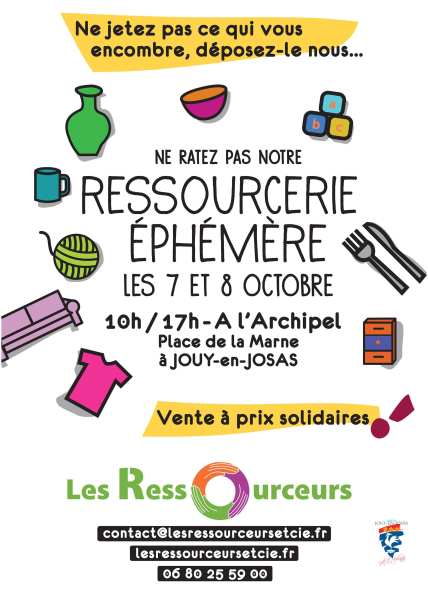 L'affiche des Ressourceurs à Jouy.