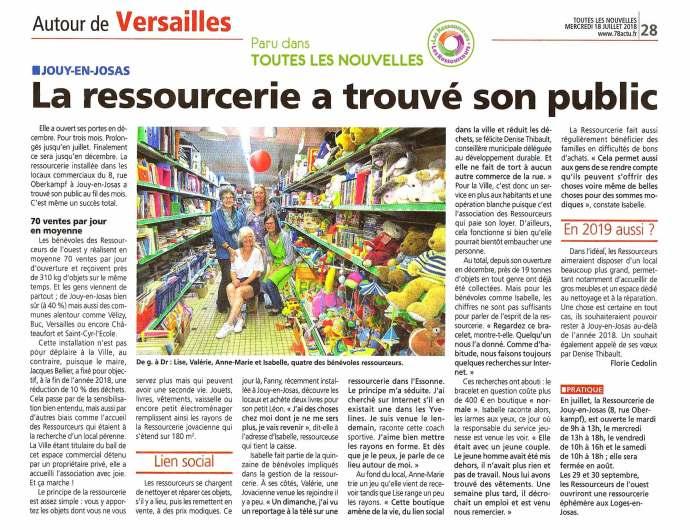 Article sur Les Ressourceurs à Jouy