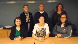 Assis: Gisèle carrier, Lisette Benny, Diane Gosselin Debout: Anne Gosselin, Richard Bouchard, Diane Holt