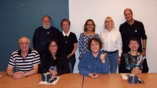 Assis: Guy Lefebvre, Denise Sirois, Sylvie Brouillette, Johanne Payment. Debout: Michel Arsenault, Carole Lavoie, Elisabète Fernandes, Christine Lareau, Gaétan Scott.