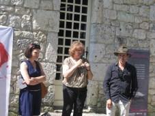 Isabelle Pichelin, directrice de l'Agence culturelle Dordogne-Périgord ; Annie Wolff, présidente de l'association Les Rives de l'Art ; Erik Samakh