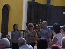 Yuhsin U CHANG, Annie WOLFF, présidente des Rives de l'Art, M. DUCENE, maire de Ste Alvère