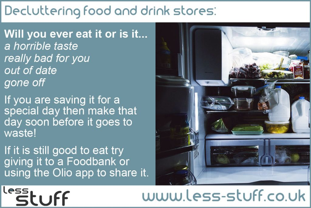 declutter food and drink