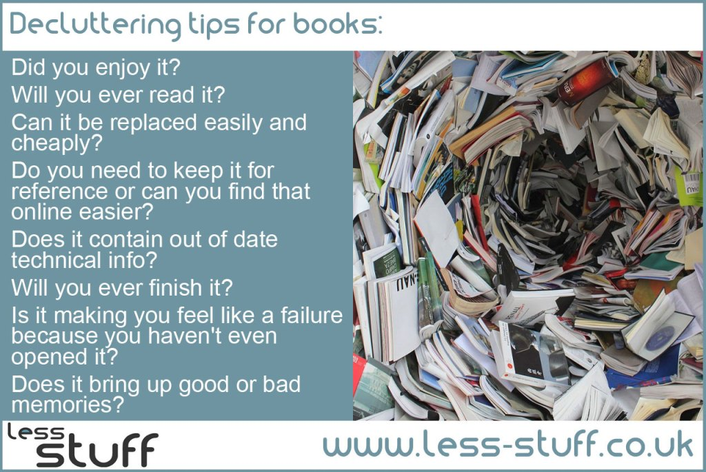 declutter books and magazines