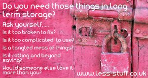 long term storage decluttering tips