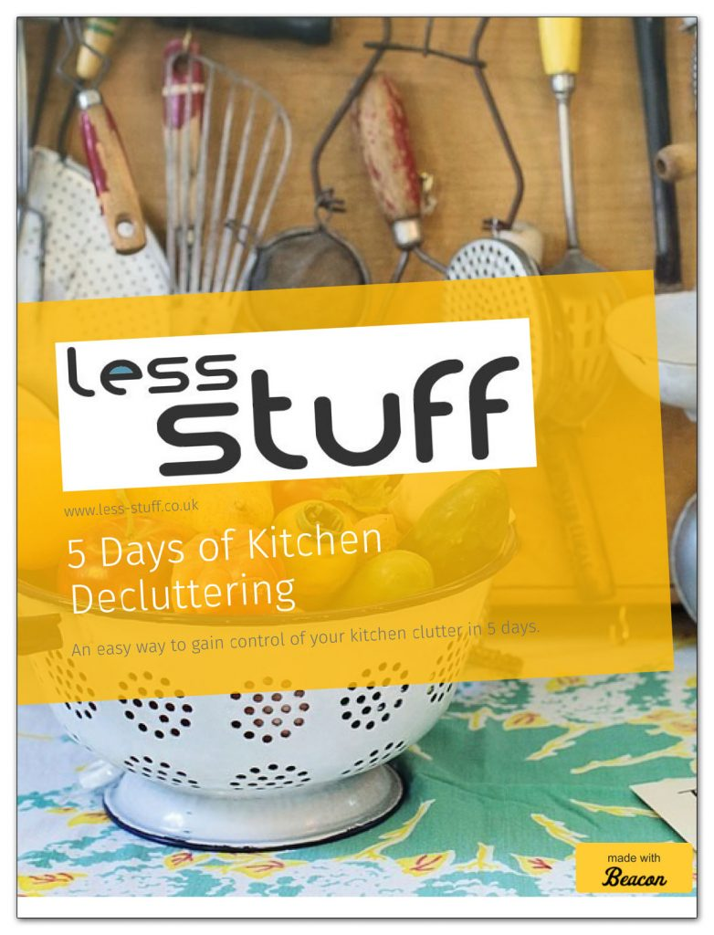 Get the book! 5 Days of Kitchen Decluttering