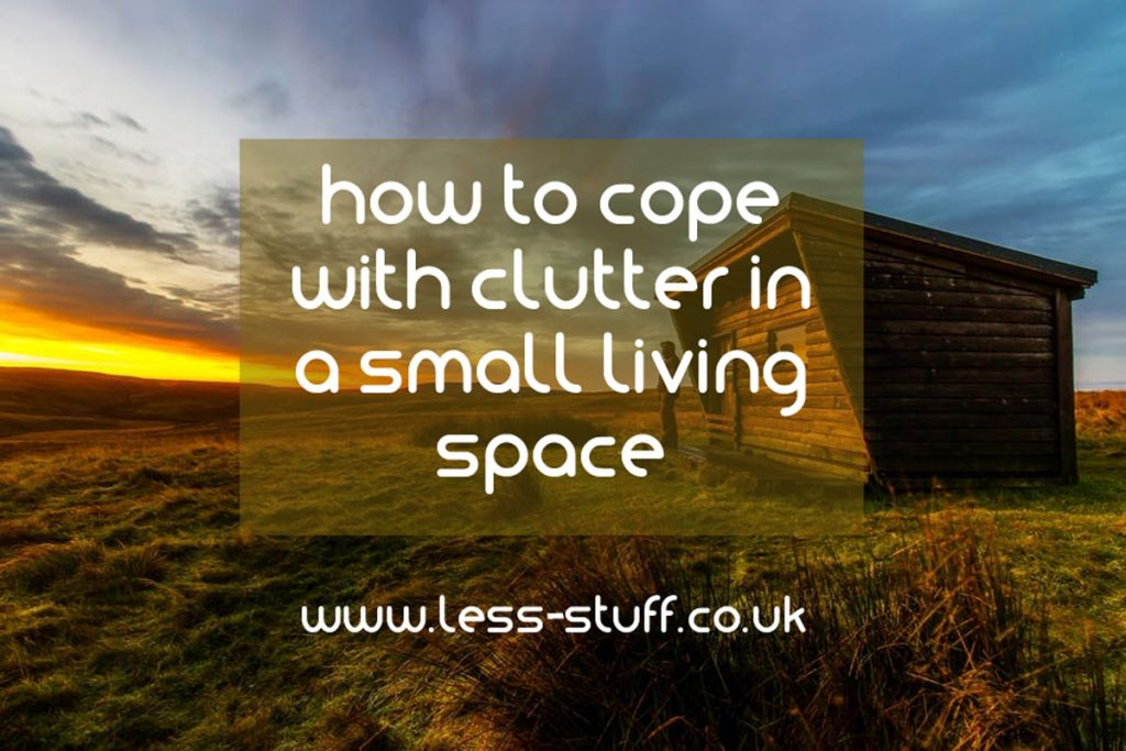 coping with clutter in a small space