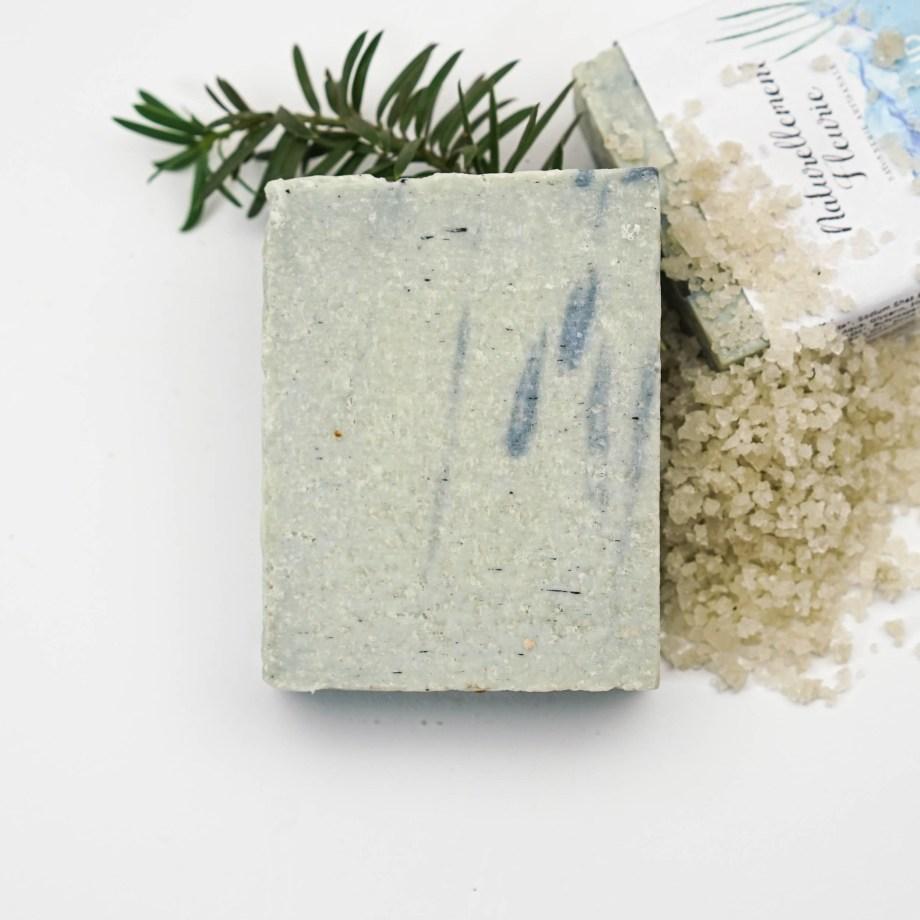 Savon marin au sel de l'île d'Olonne - Savon solide saponifié à froid, surgras, naturel et bio, zéro déchet