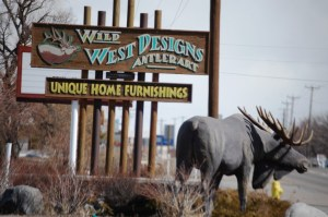Wild West Designs in Idaho Falls...great wooden sculptures