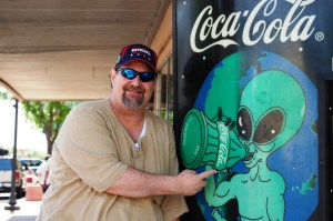 Have a Coke and a Smile?? Coke machine in Roswell...