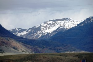 View towards mountains in Wapiti
