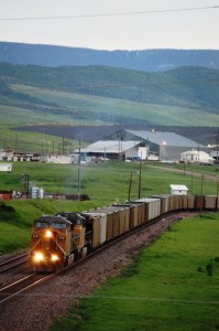 Train coming out of Peabody Coal Mine near Oak Creek, CO