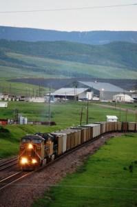 Train coming out of Peabody Coal Mine near Oak Creek, CO