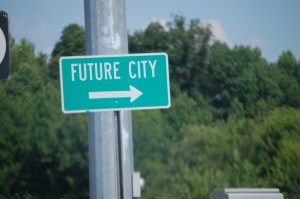 Sign to Future City, Illinois...I guess it is not there yet??