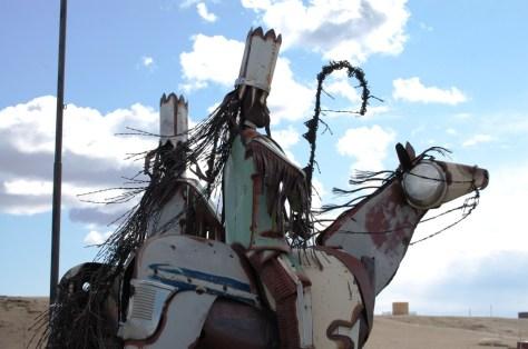 Blackfeet Chiefs guard the eastern gateway to the Blackfeet Reservation