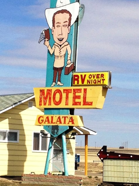 Motel Galata on US Hwy 2 - The Hi-Line - in Galata, Montana